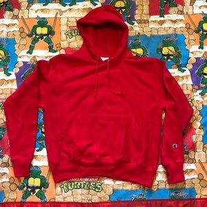 Champion Reverse Weave Hoodie Size Medium Red